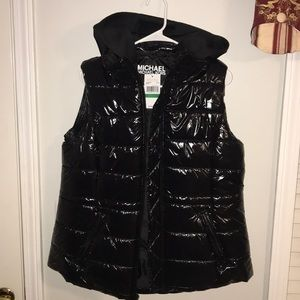 MICHAEL Michael Kors Glossy Quilted Puffer Vest